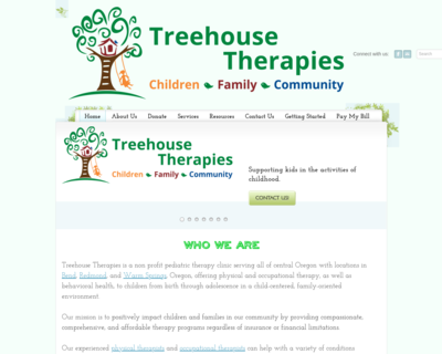 Screenshot of http://www.treehousetherapies.com/