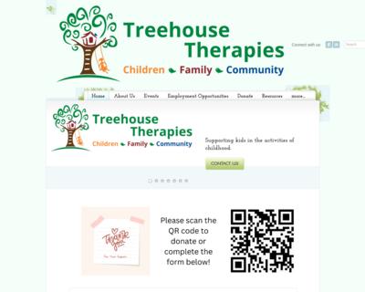 Screenshot of http://www.treehousetherapies.com/