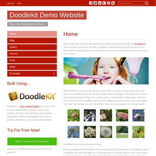 Click to Preview Simple Red V-Nav