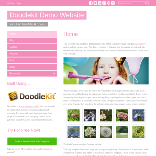 Click to Preview Simple Pink V-Nav