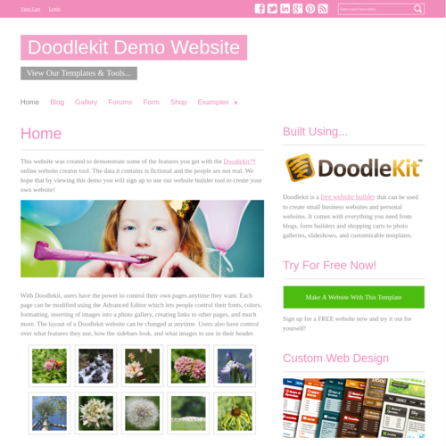 Click to Preview Simple Pink H-Nav