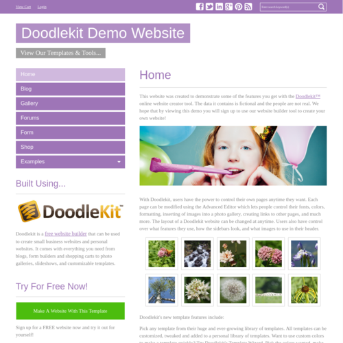 Click to Preview Simple Purple V-Nav
