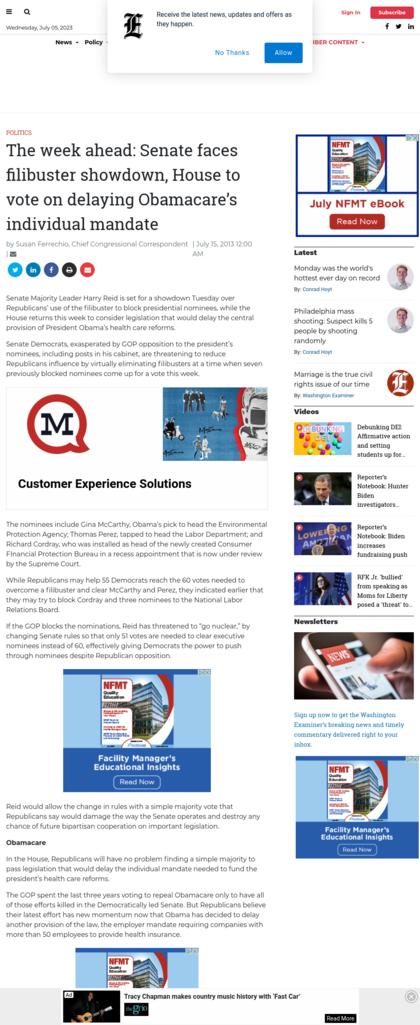 Screenshot Washingtonexaminer.com