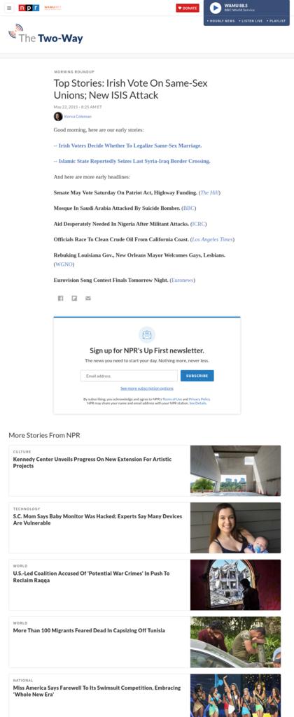 Screenshot Npr.org