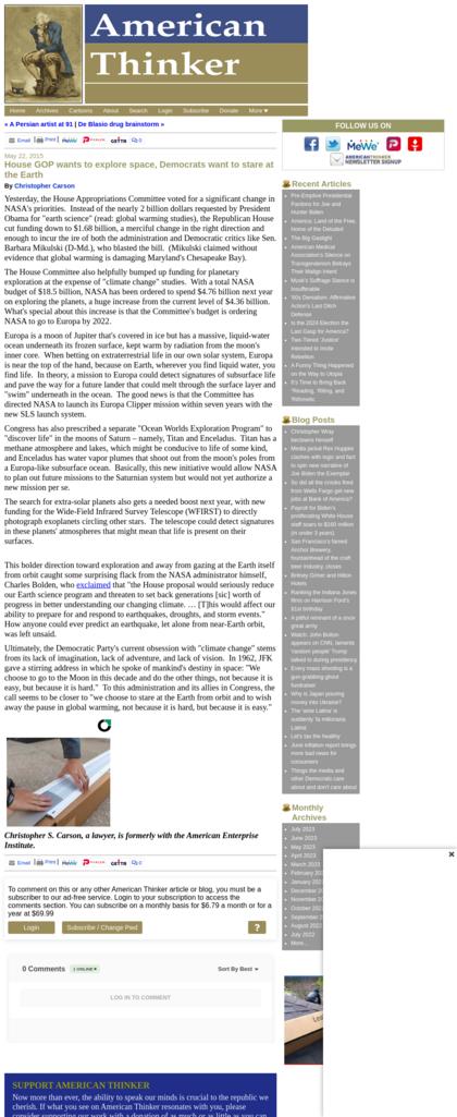 Screenshot Americanthinker.com