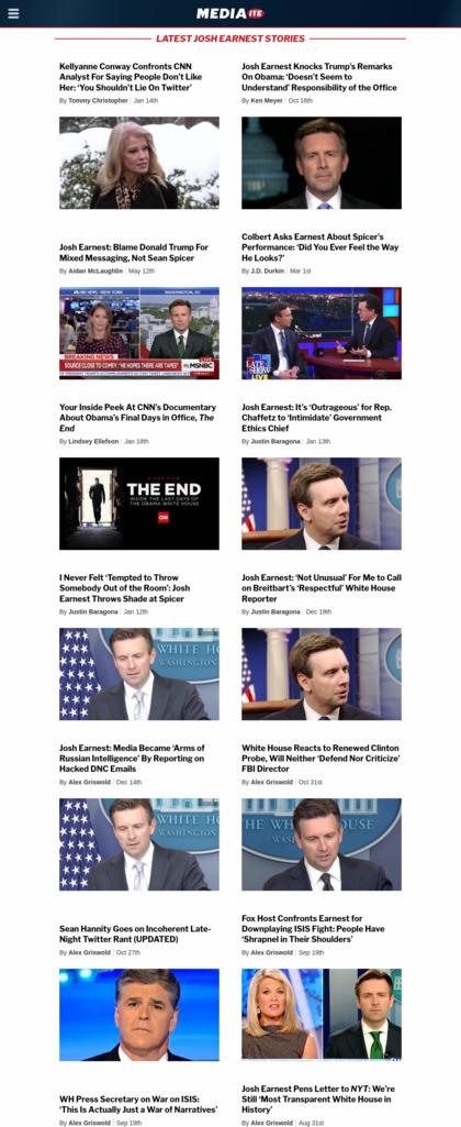 Screenshot Mediaite.com