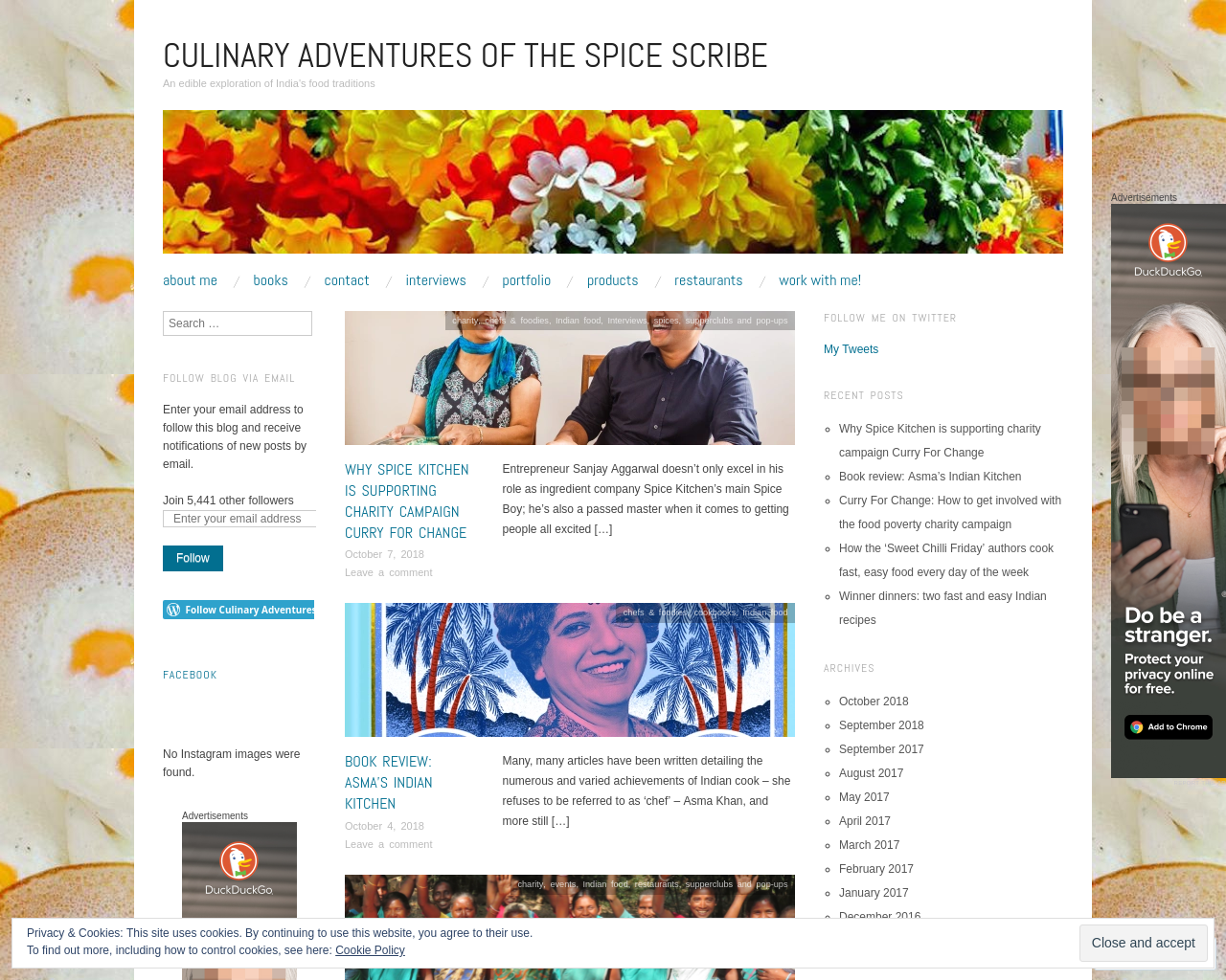 Culinary Adventures of The Spice Scribe