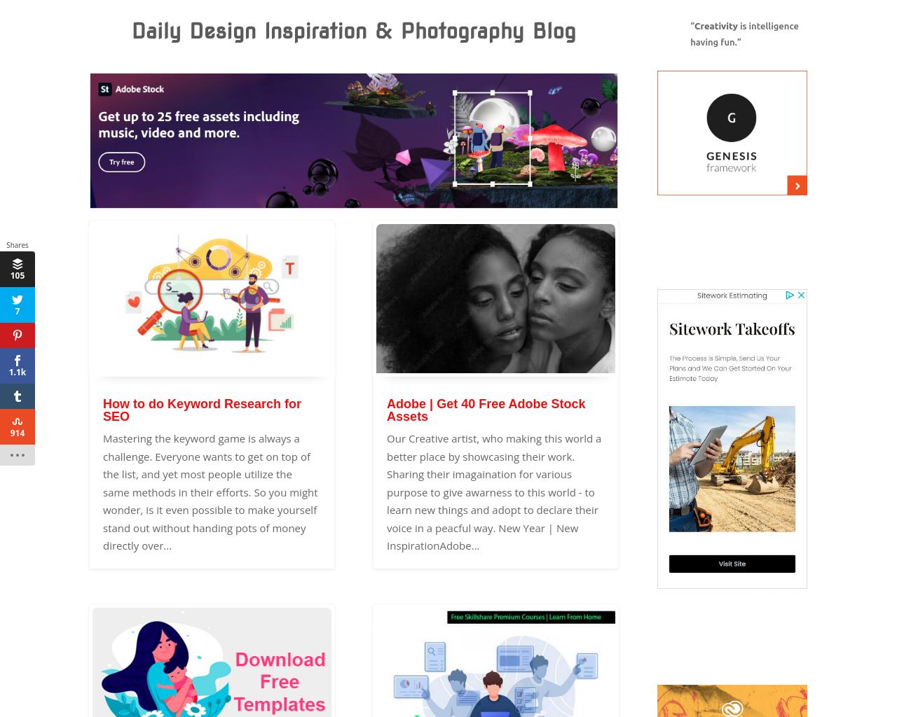AnimHuT - Creative Blog (Daily Design & Random Photography Inspiration Blog)