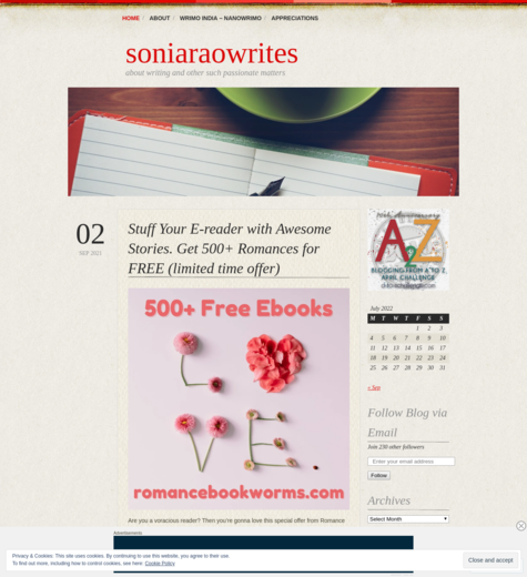 Soniaraowrites