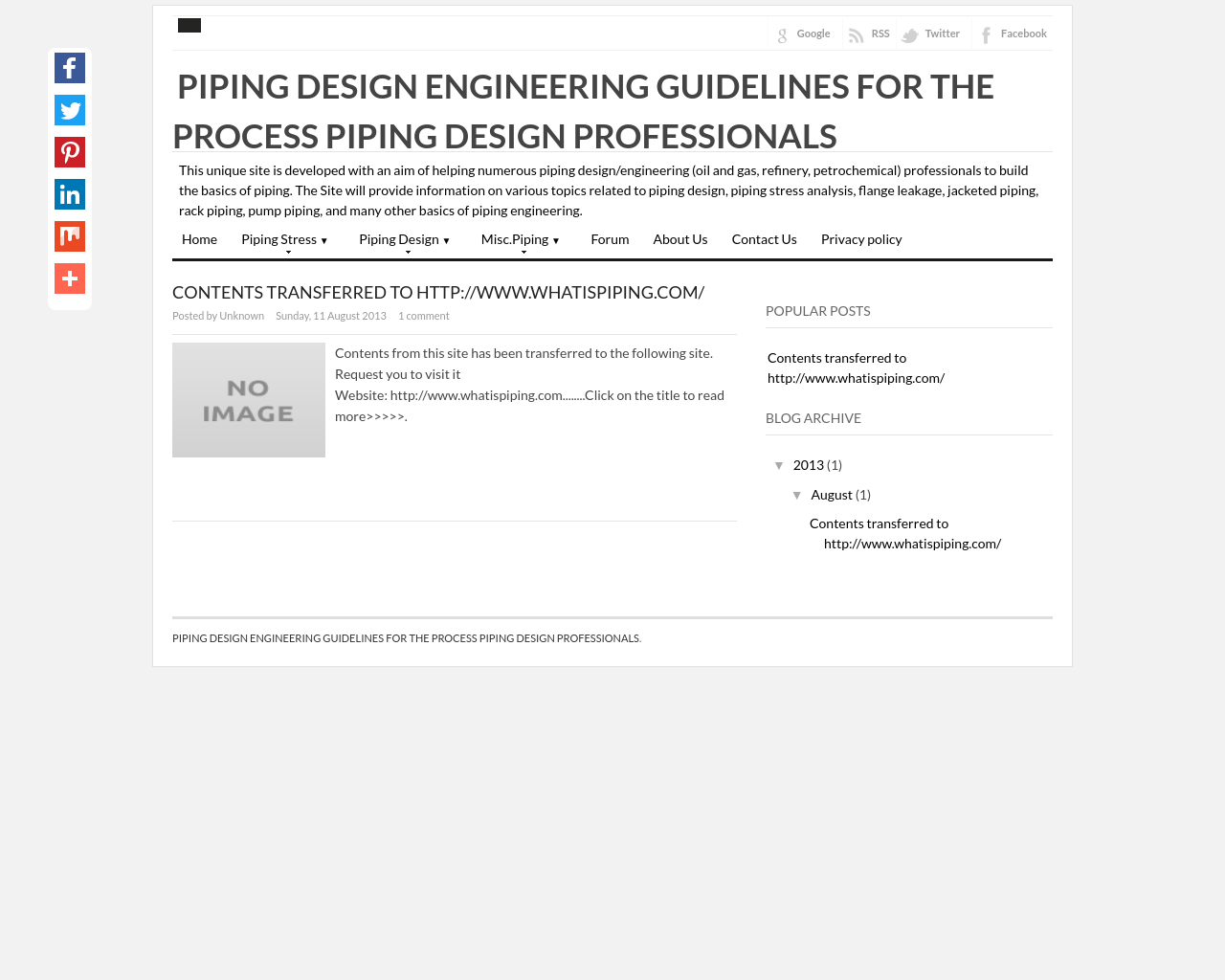 PIPING DESIGN ENGINEERING GUIDELINES FOR THE PROCESS PIPING DESIGN PROFESSIONALS