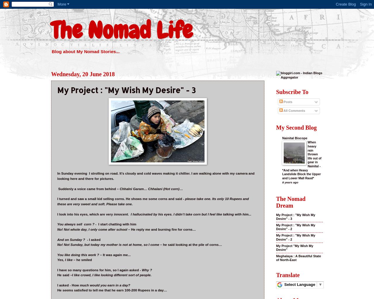 My Nomadic Life