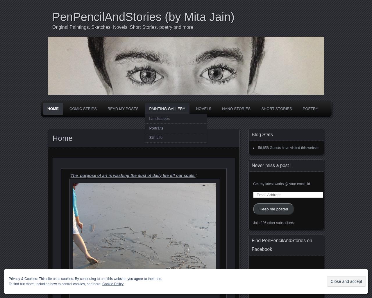 Original Paintings, Novels, Short Stories, Comic Strips, and my musings