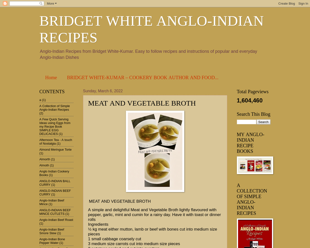 Anglo-indian Recipes