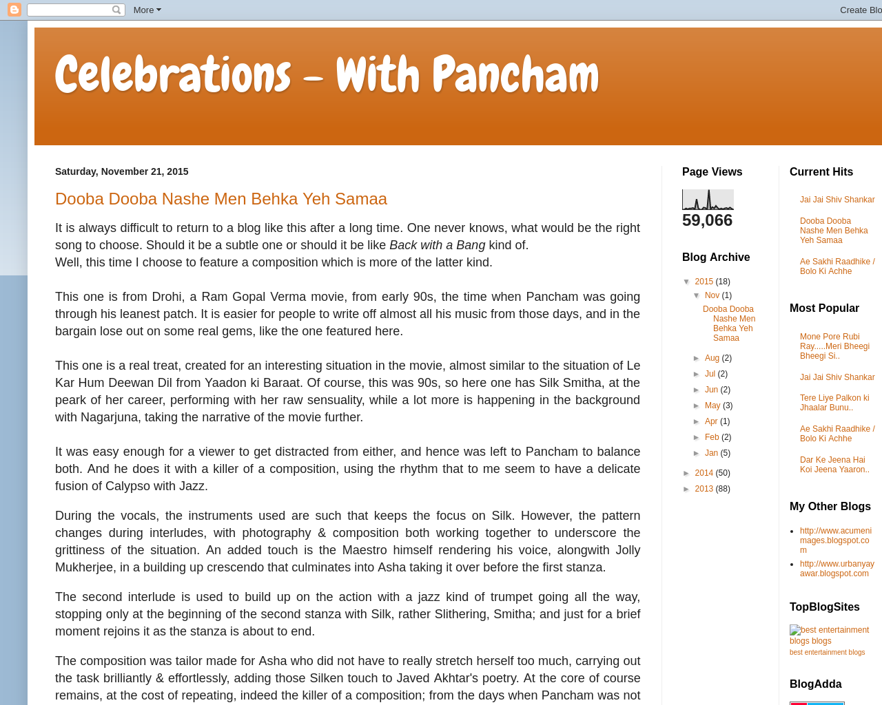 Celebrations - With Pancham