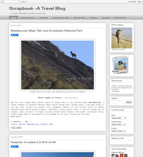 Scrapbook- A Travel Blog