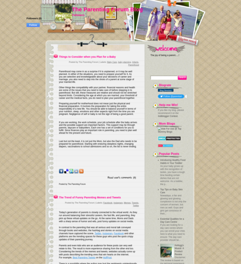 The Parenting Forum Blog