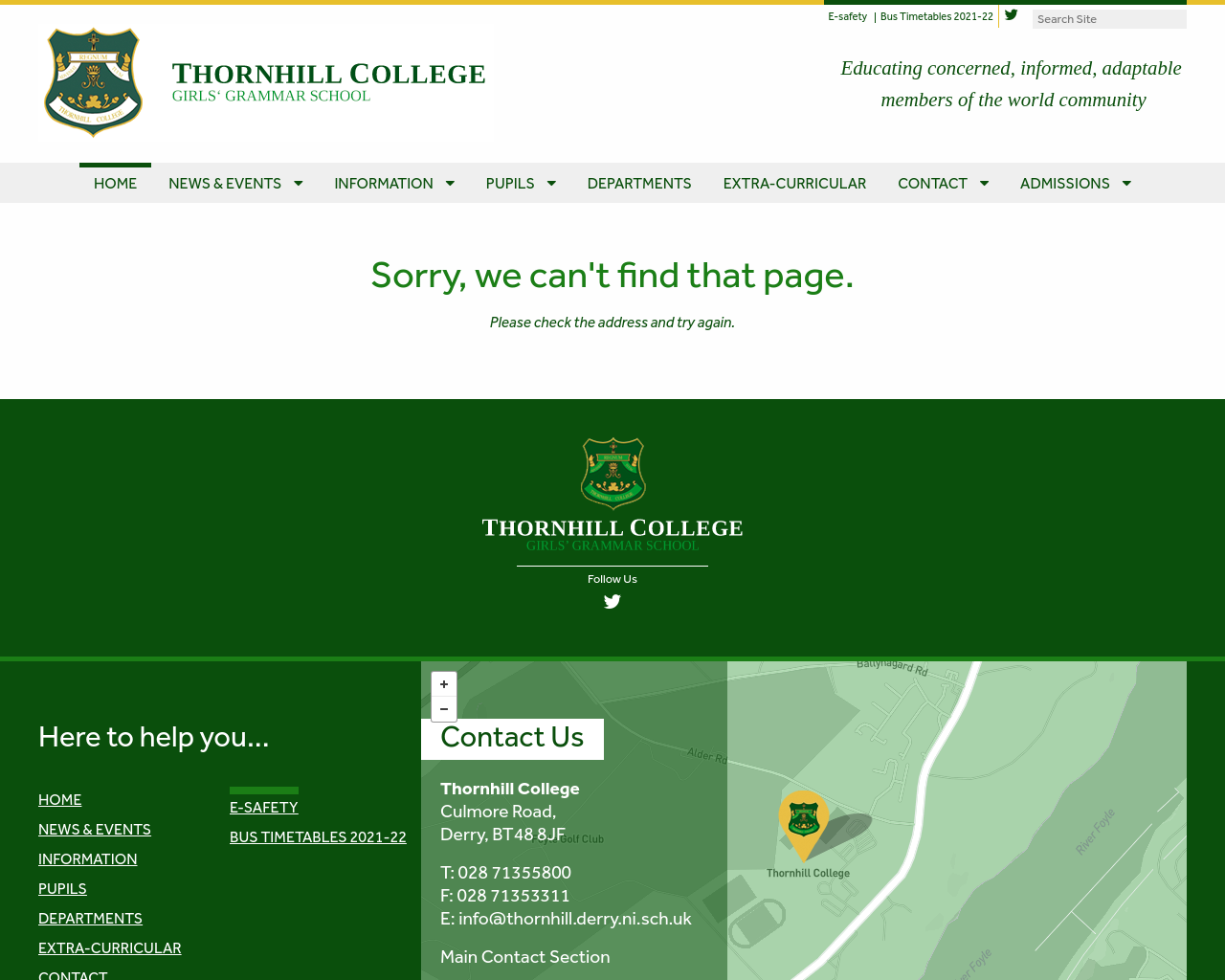 Thornhill College Prospectus & Open Day