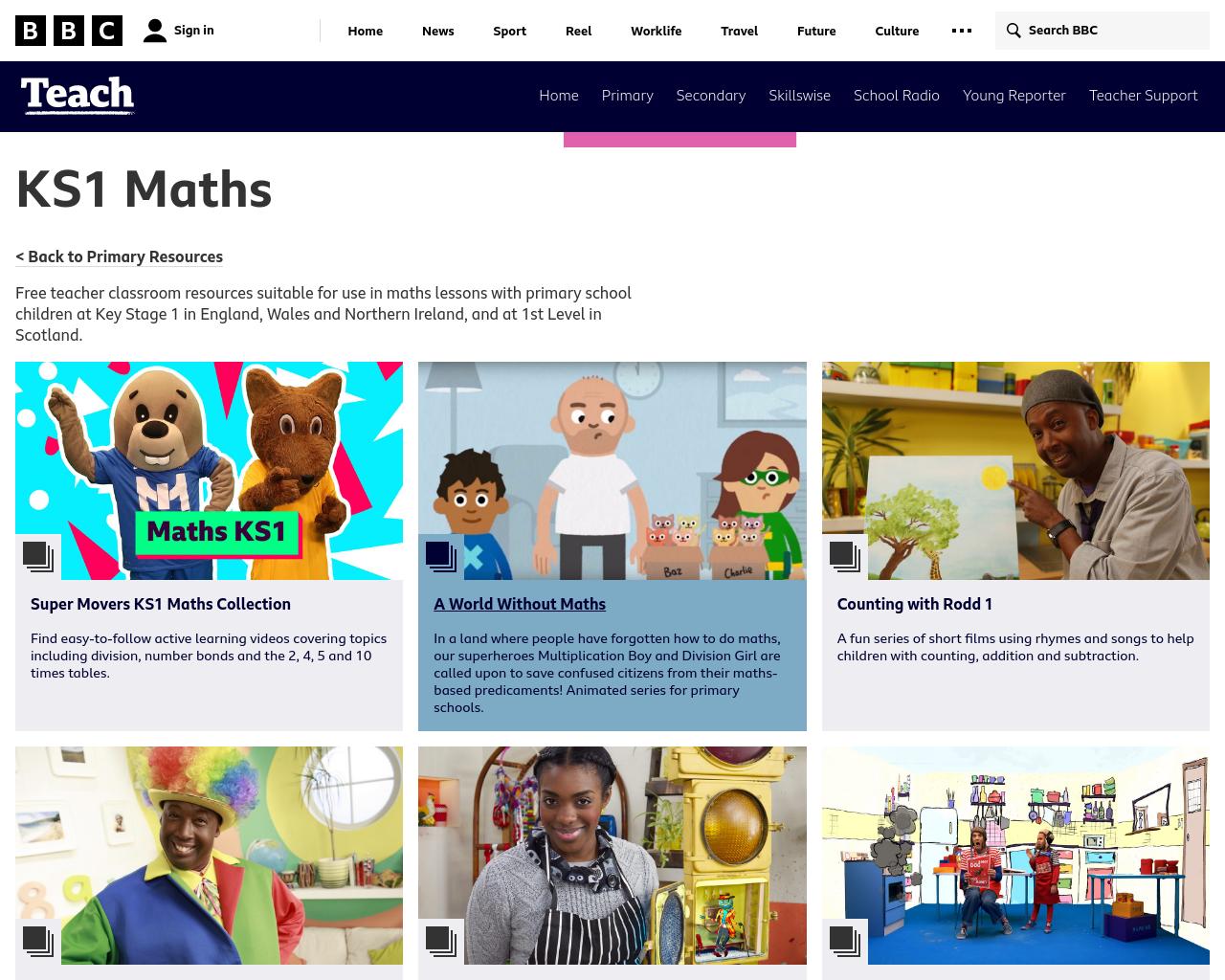 BBC KS1 Maths