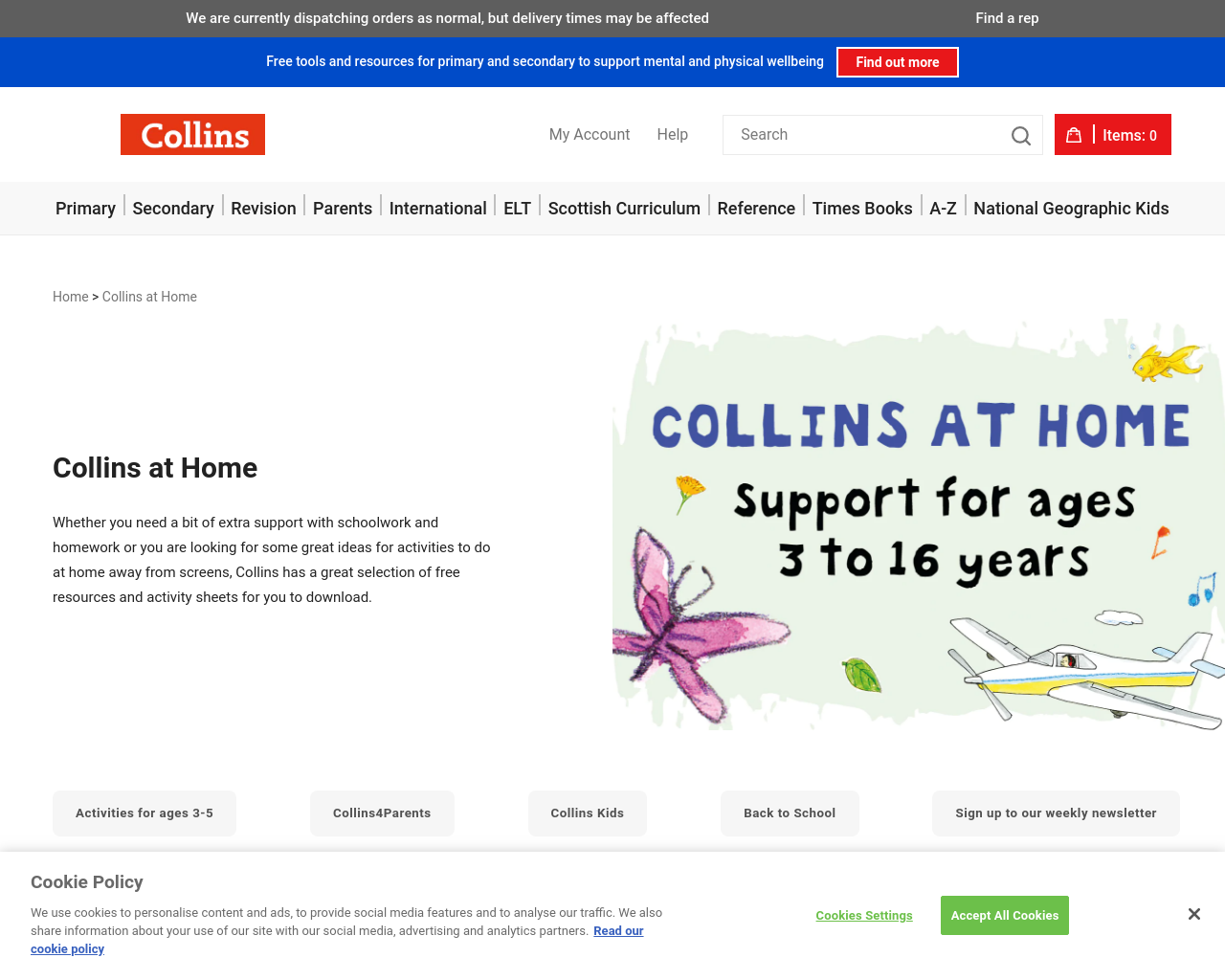Collins Support Learning at Home