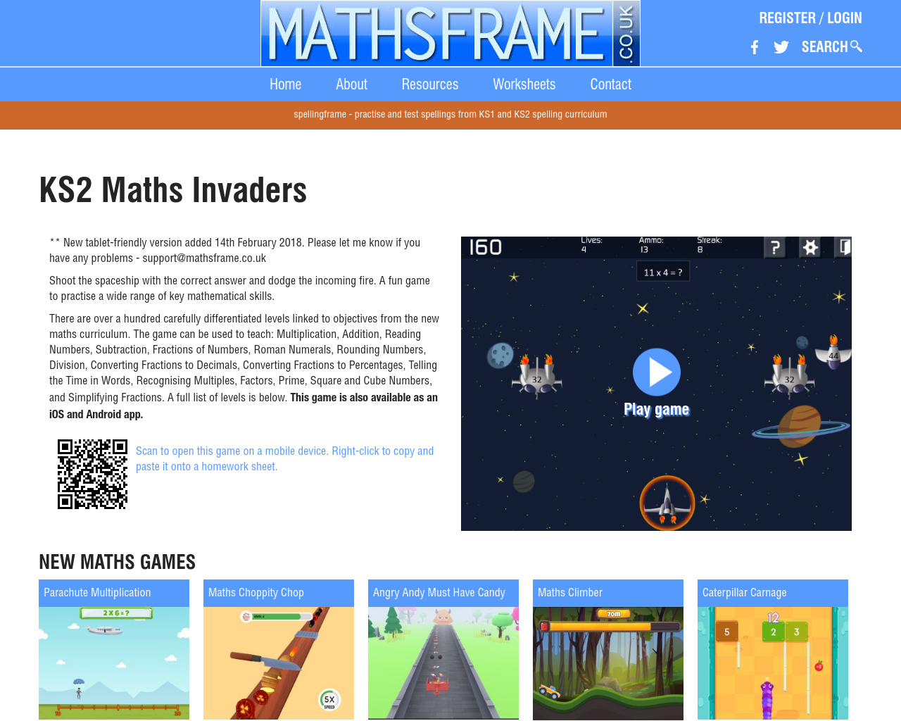 Maths Invaders