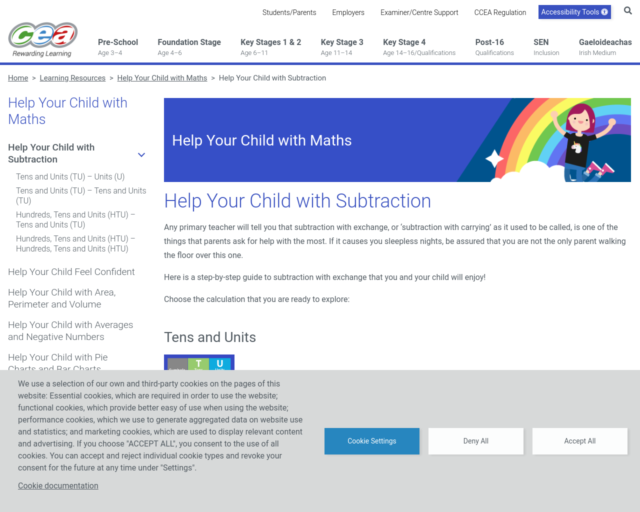 Help your Child with Subtraction