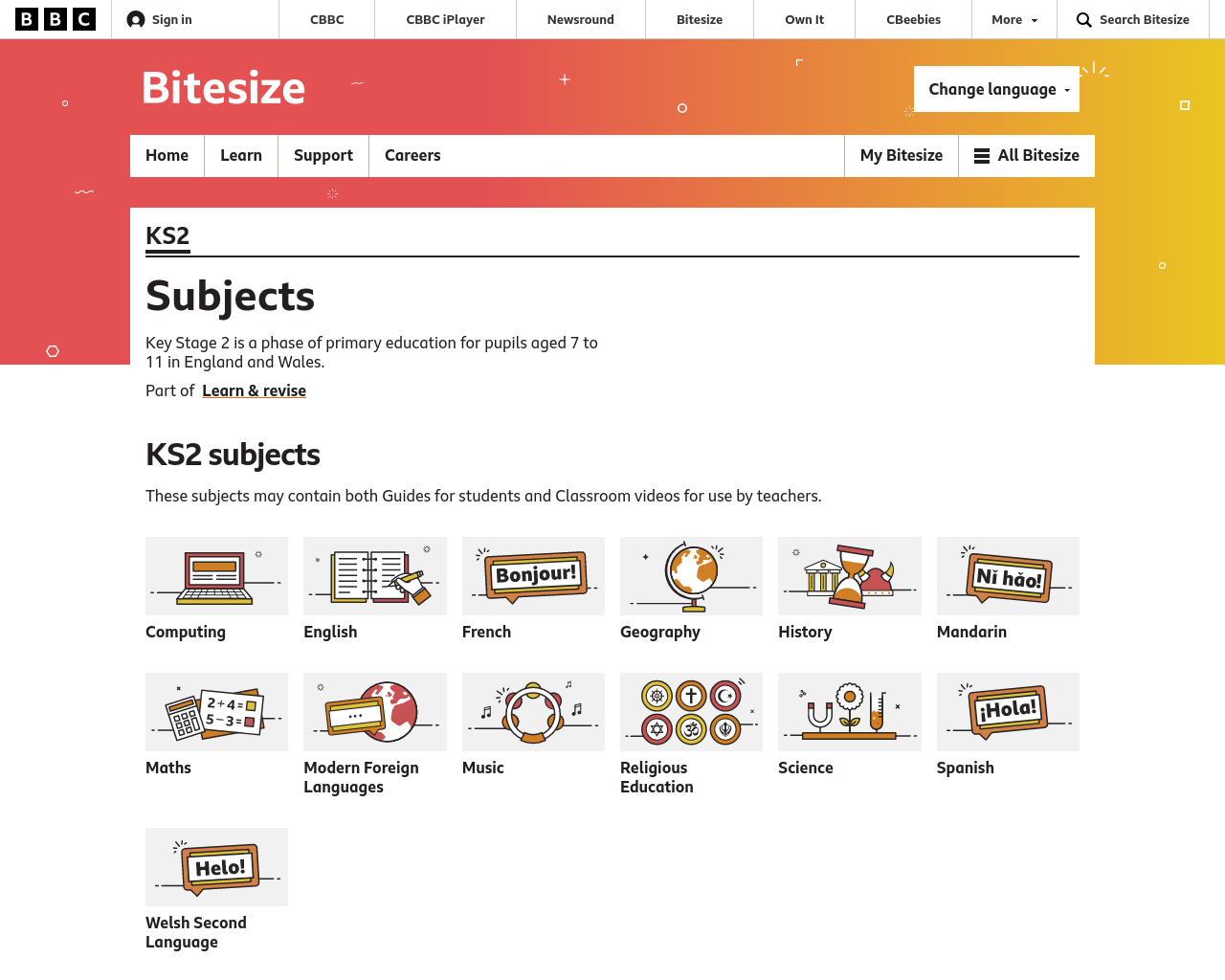 bbc bitesize revision key stage 2