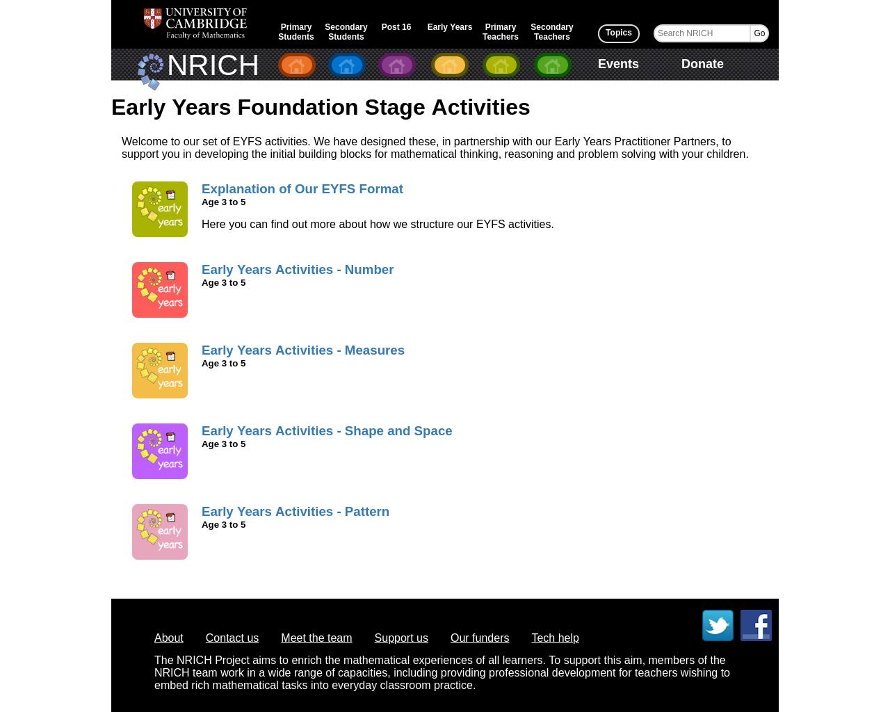 Early Years Activities