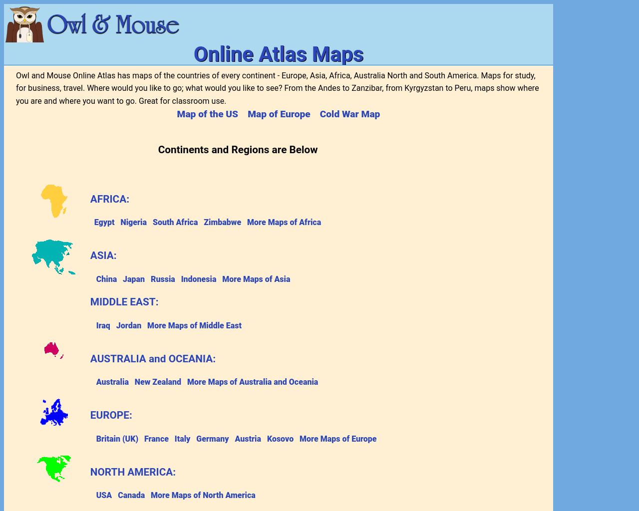 Online Atlas Maps