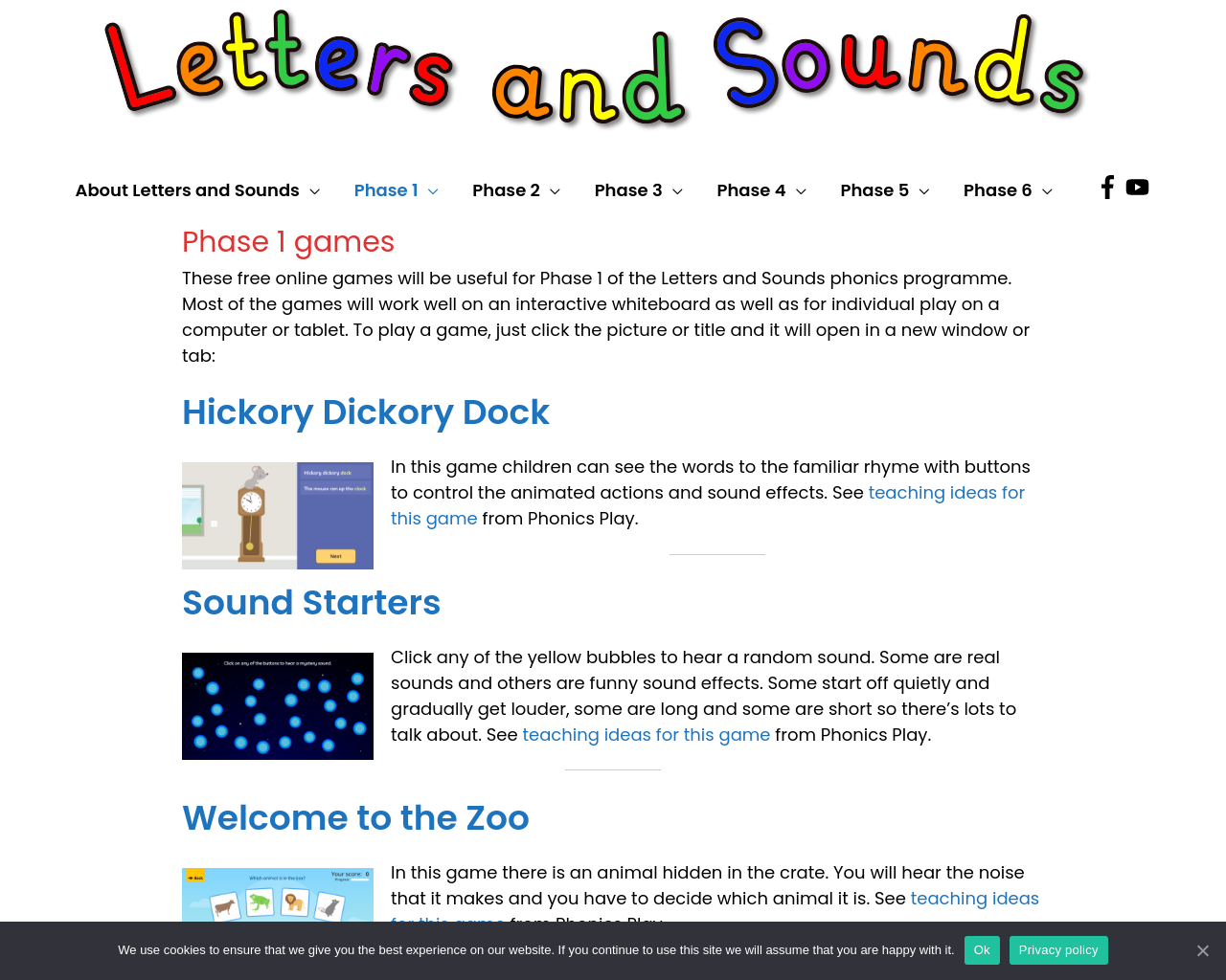 Letter and sound games