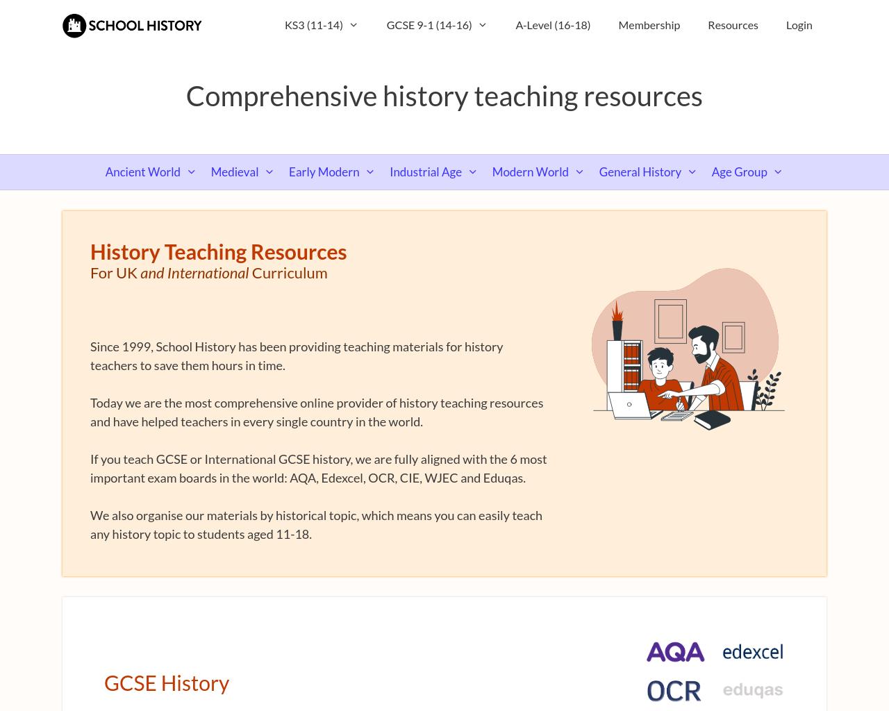 School History - Curricular activities