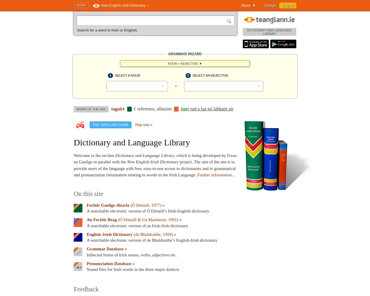 Teanglann Irish Dictionary