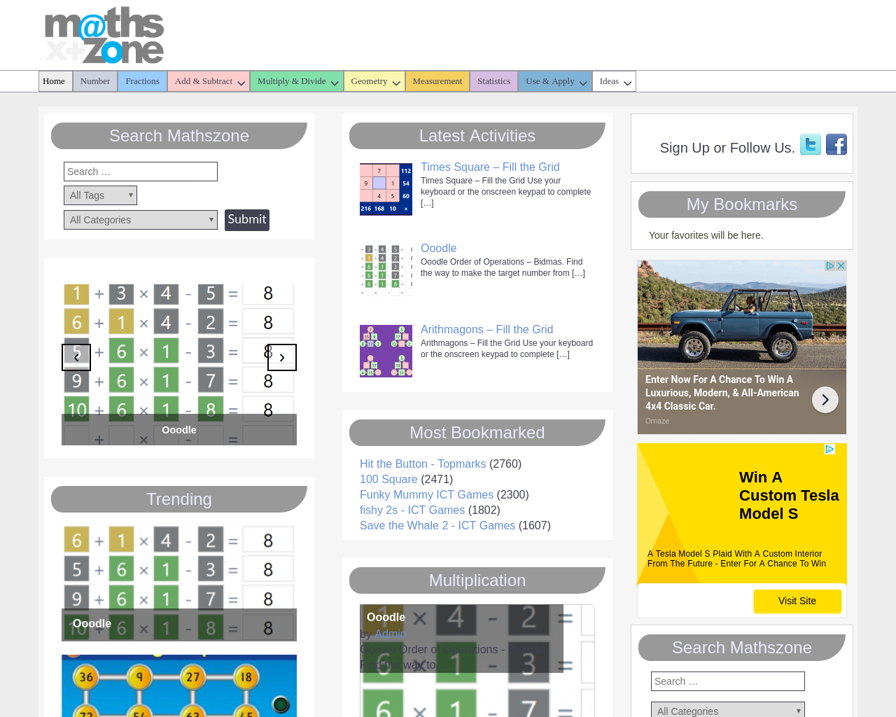 Maths Zone for Key Stage 1 and 2