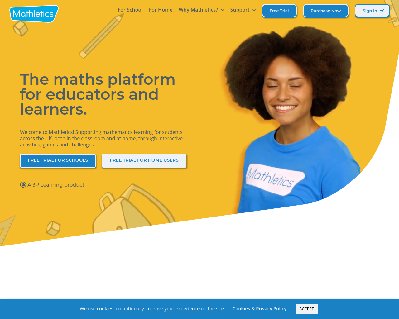 Mathletics - P3 to P7 use own username and password