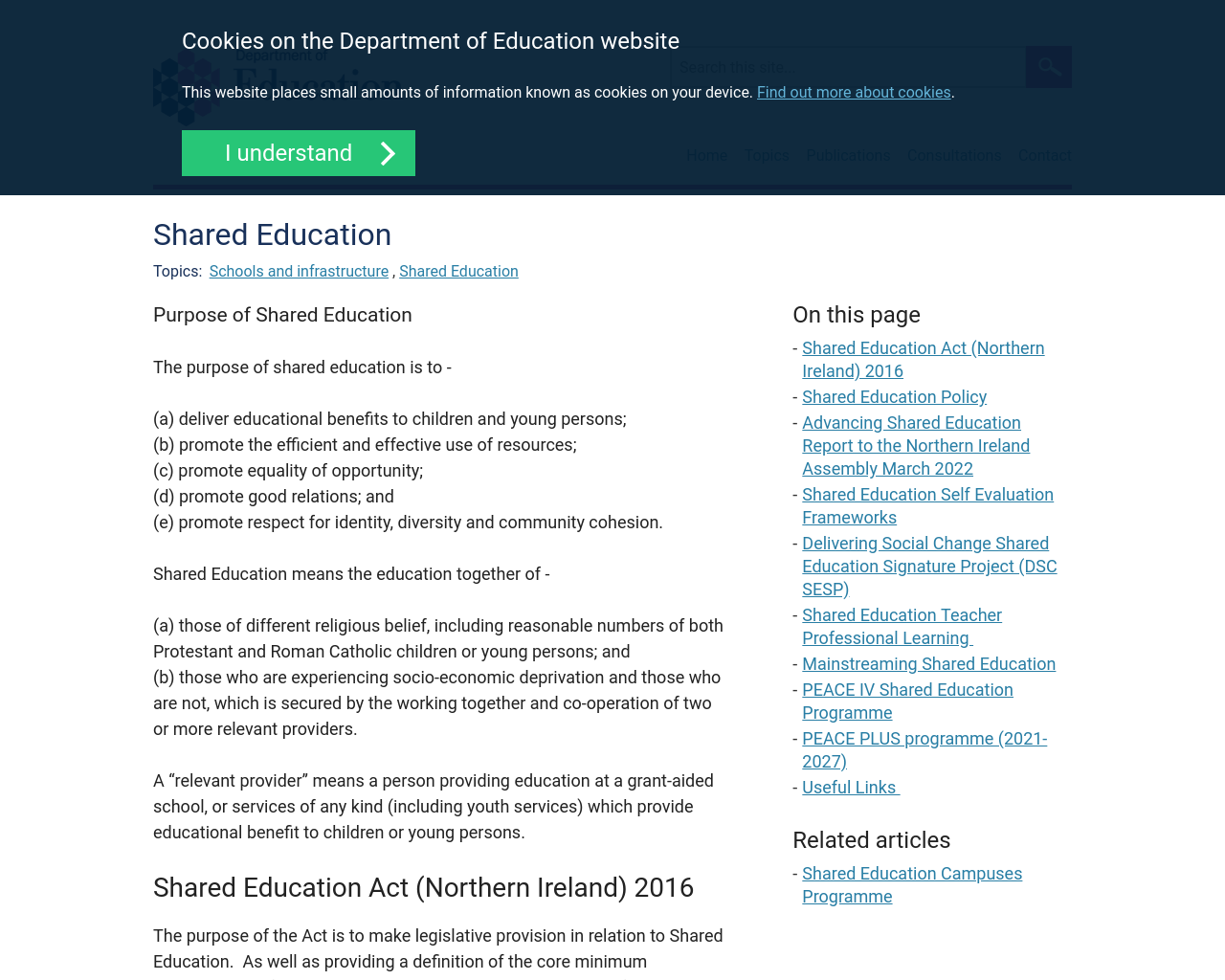 Find out more about Shared Education