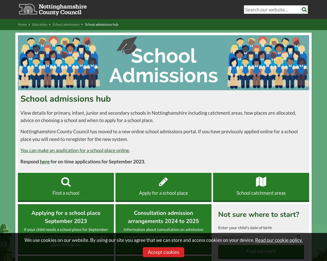 School Admission Information (Notts LA)