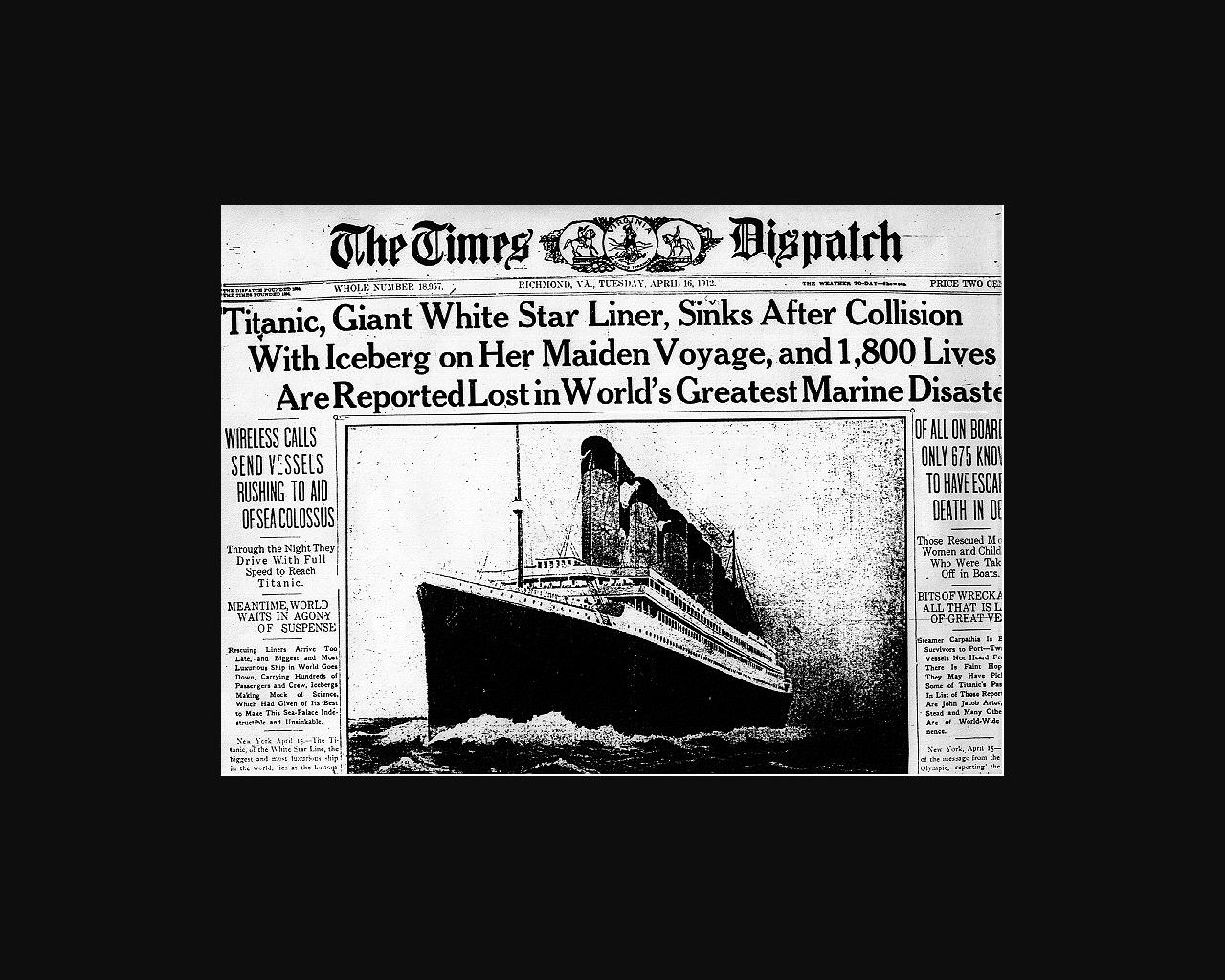 Titanic Newspapers