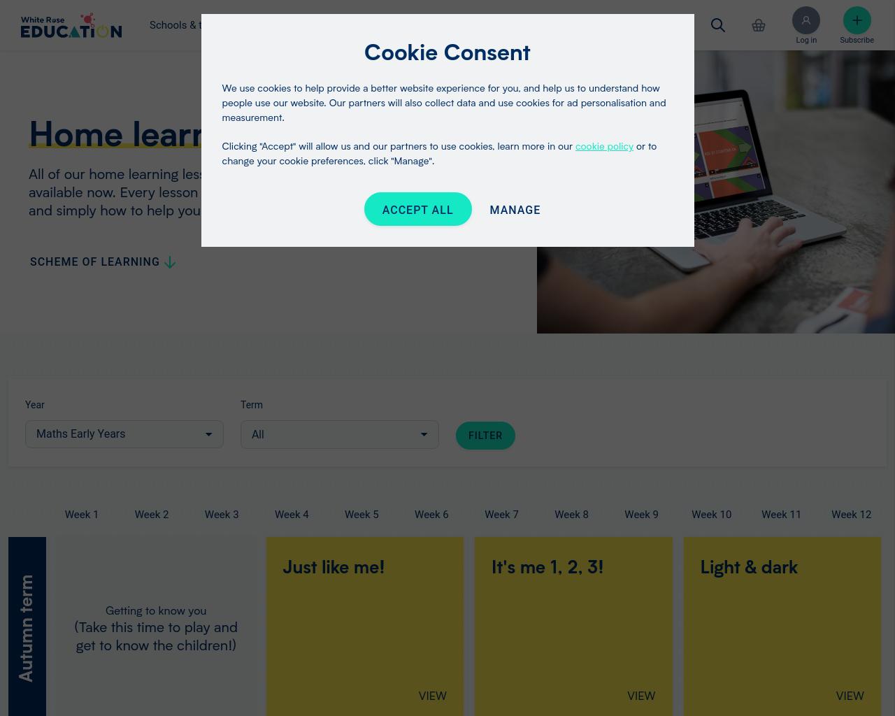 WhiteRose Maths website