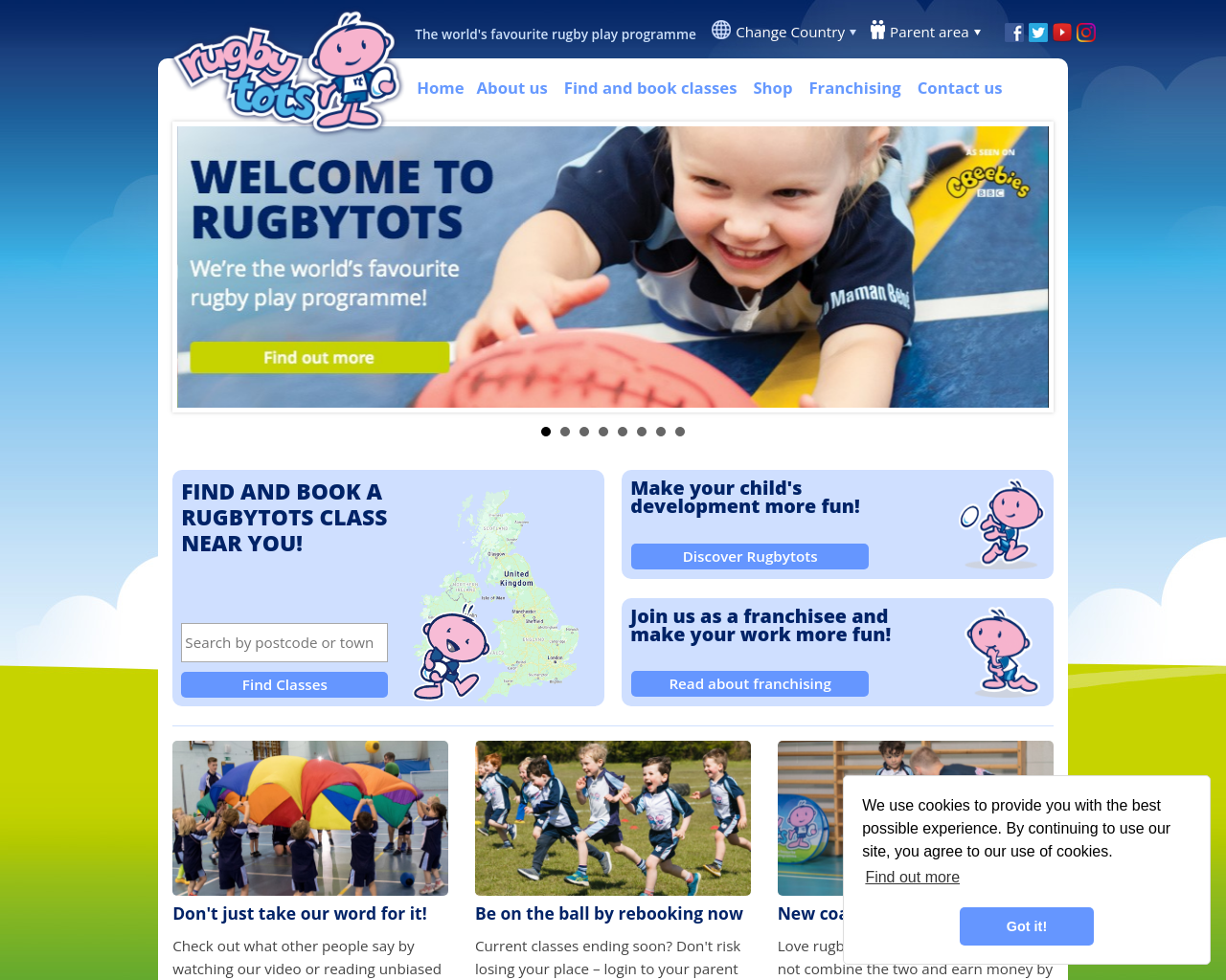 Find local rugby classes