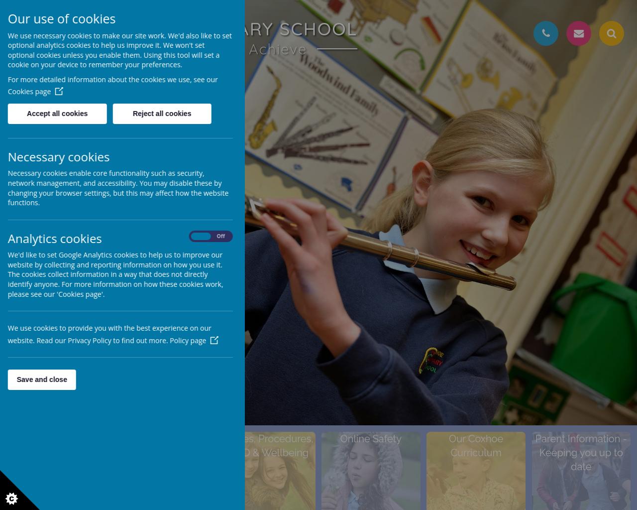 Coxhoe - Curricular activities