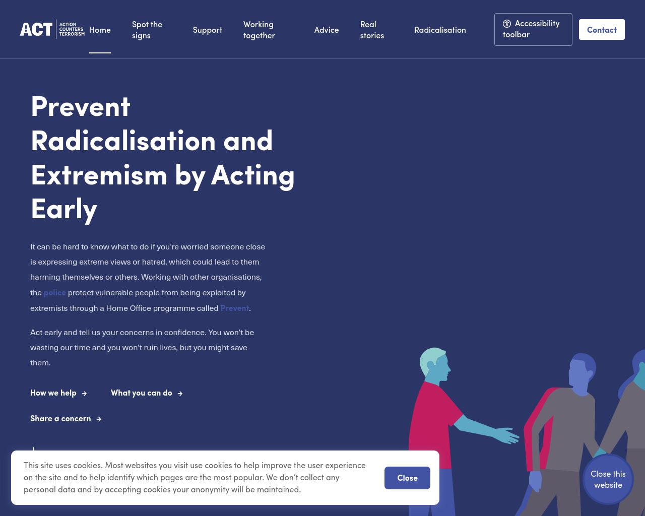 Prevent website