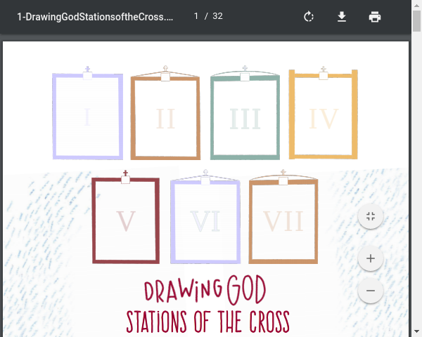 Drawing God-Stations of the Cross Worksheets