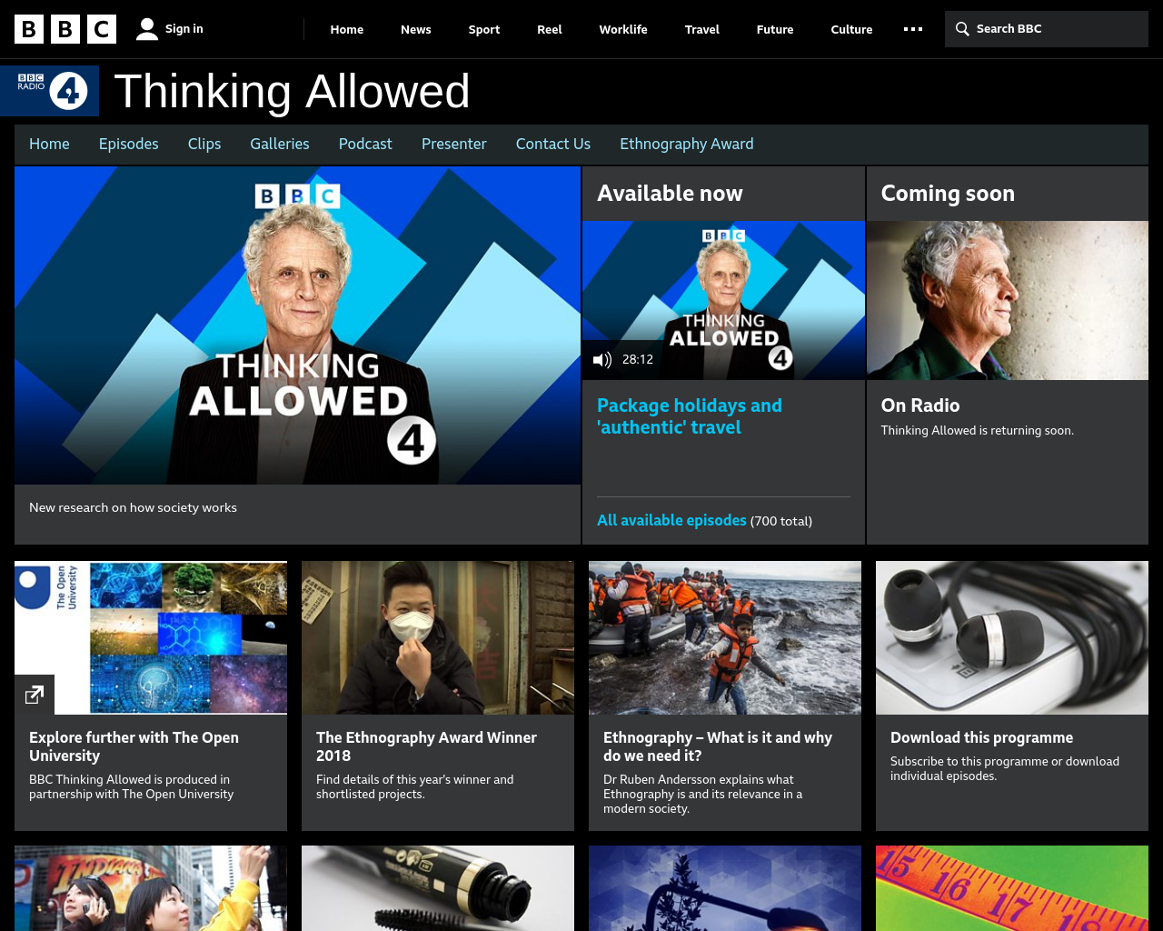 BBC Radio 4 Thinking Allowed