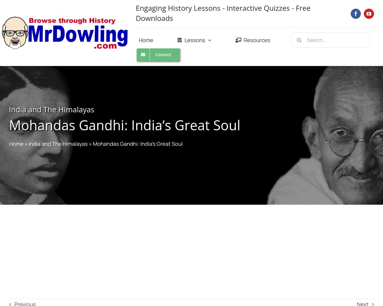 Mohandas Gandhi (mrdowling.com)