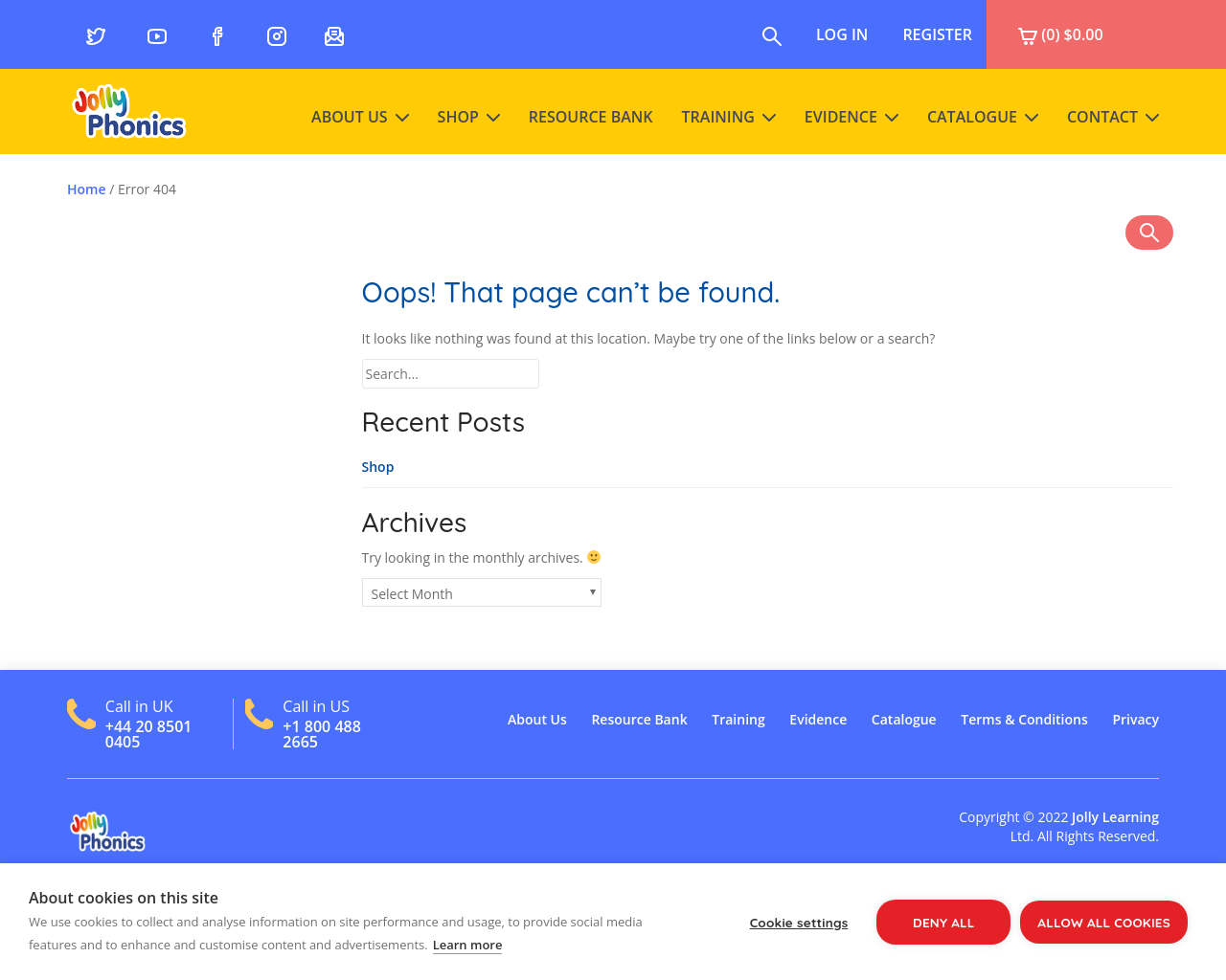 Jolly Phonics – for information and correct pronunciation of sounds