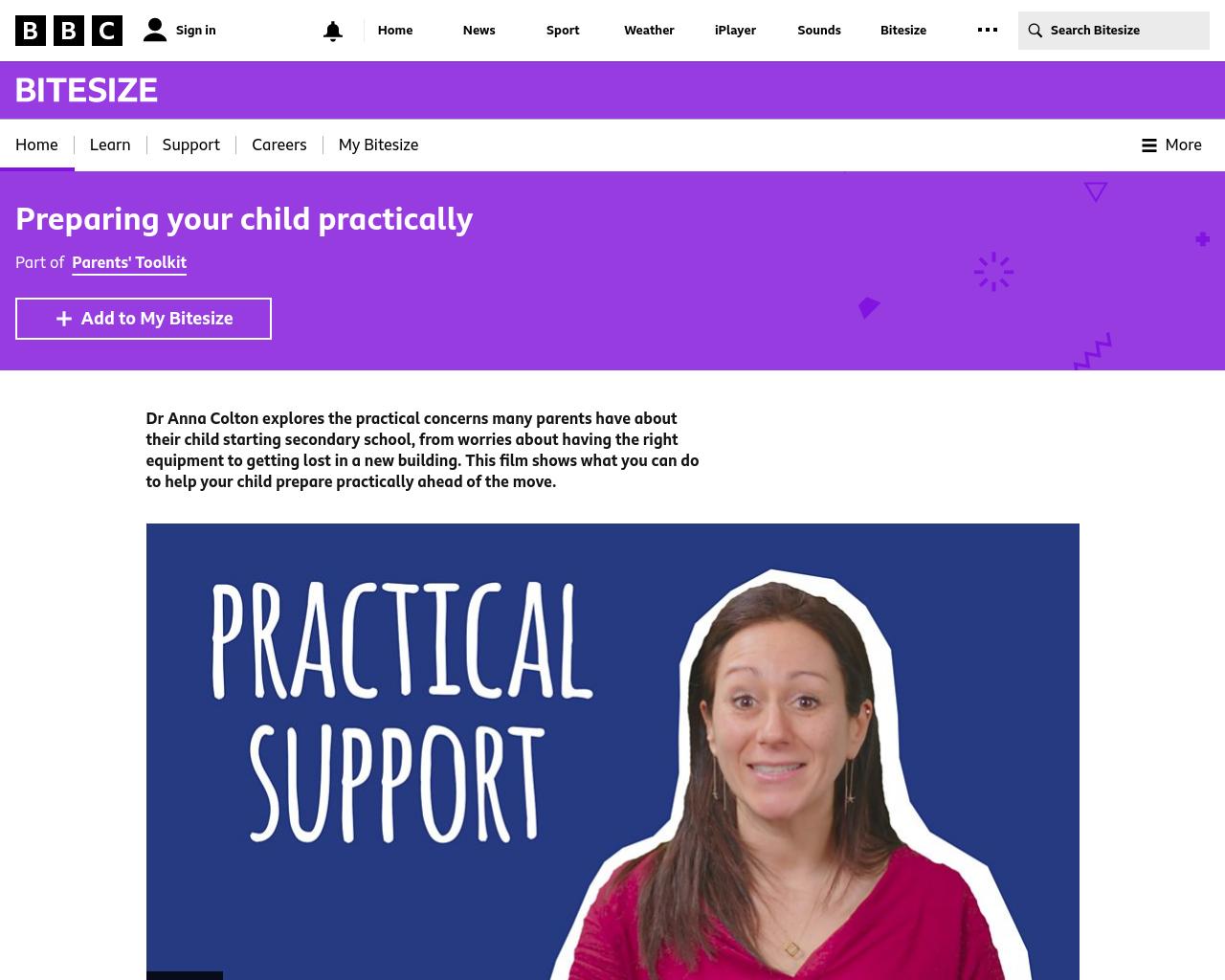 Preparing your child practically