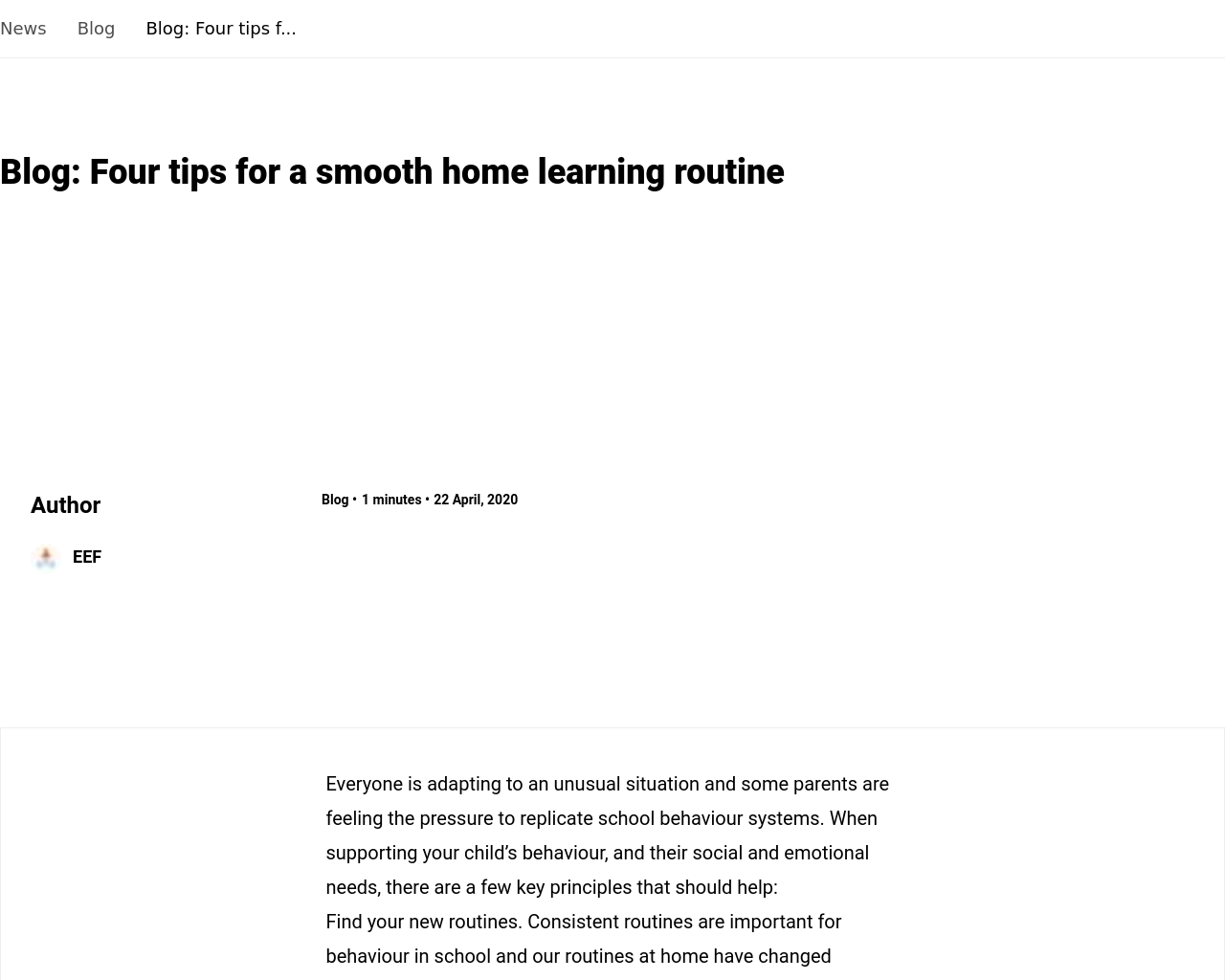 Tips for a smooth home learning routine