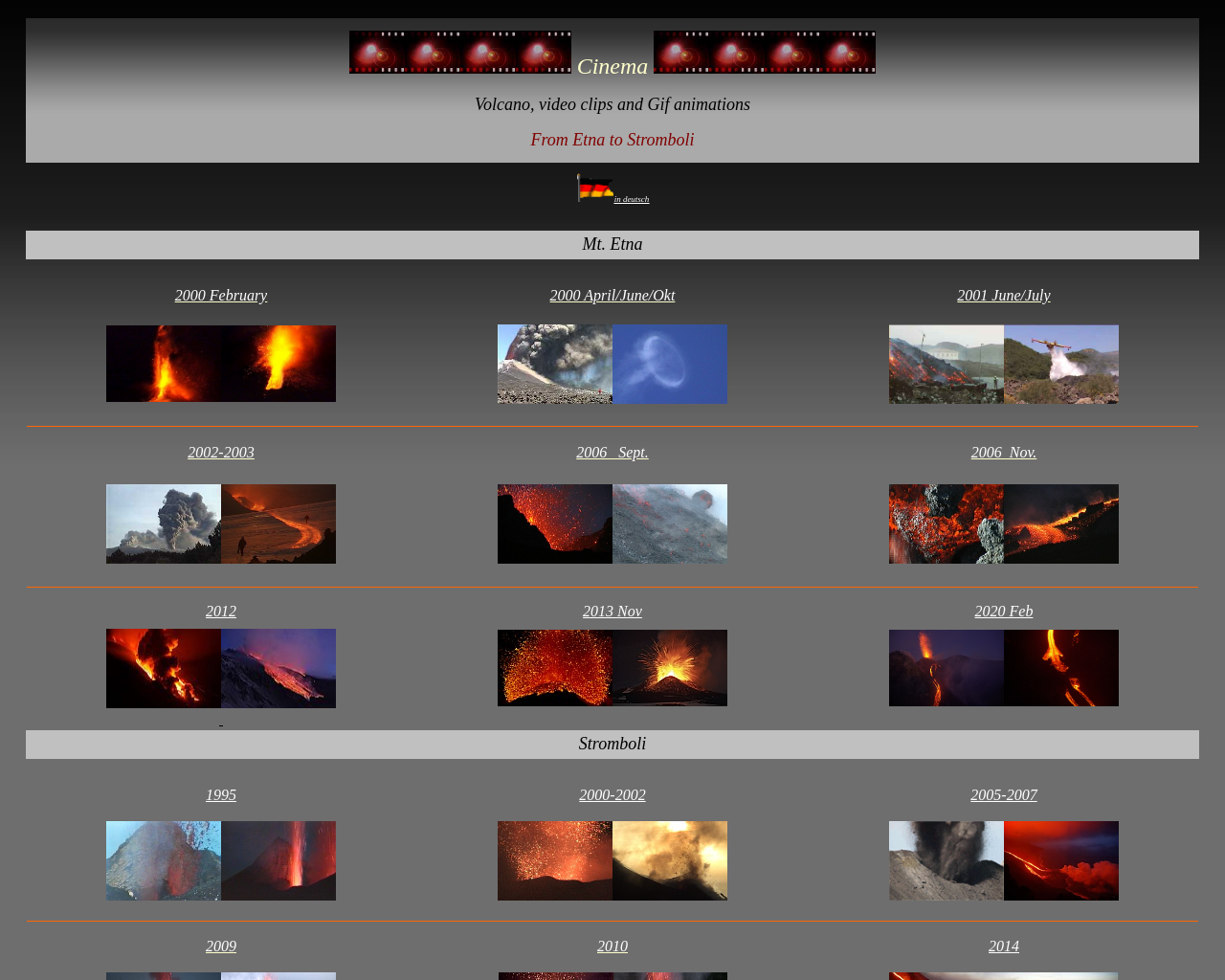 Video of eruptions