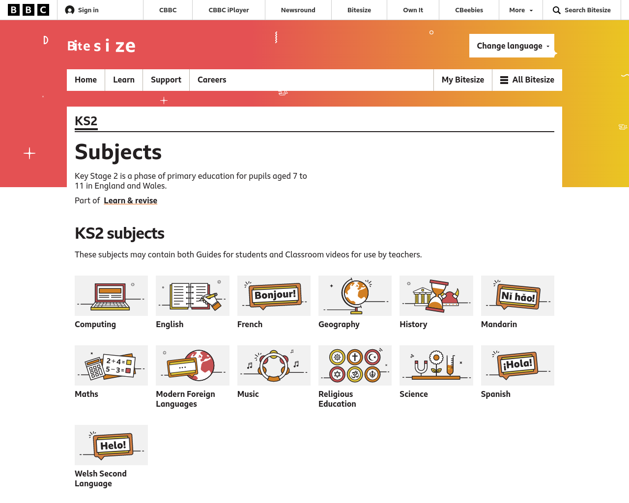 BBC Bitesize KS2