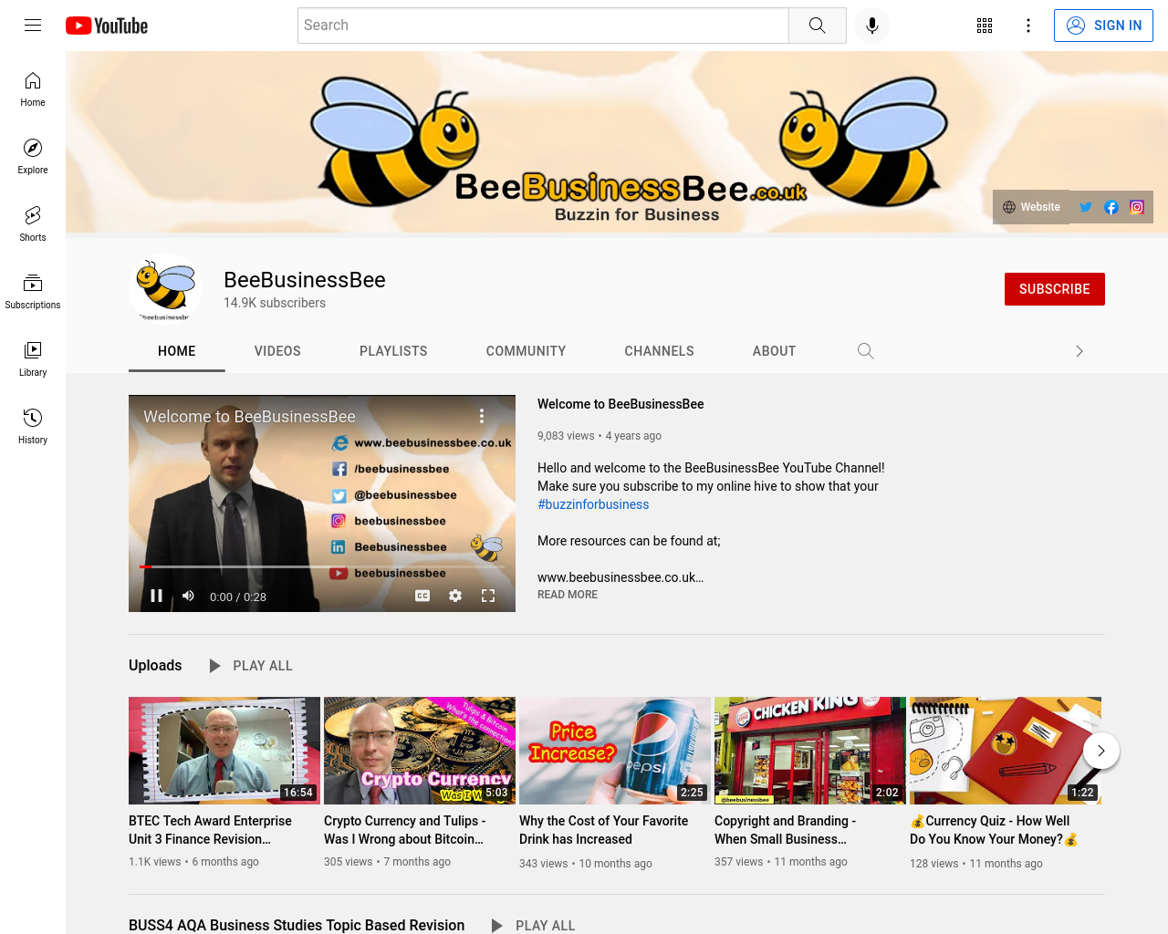Bee Business Bee Youtube