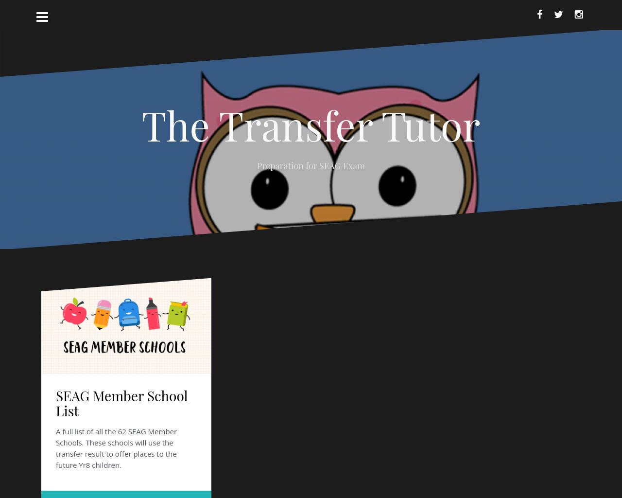 Transfer Tutor website